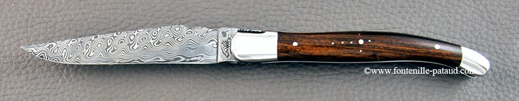 Laguiole damas et manche en bois de fer