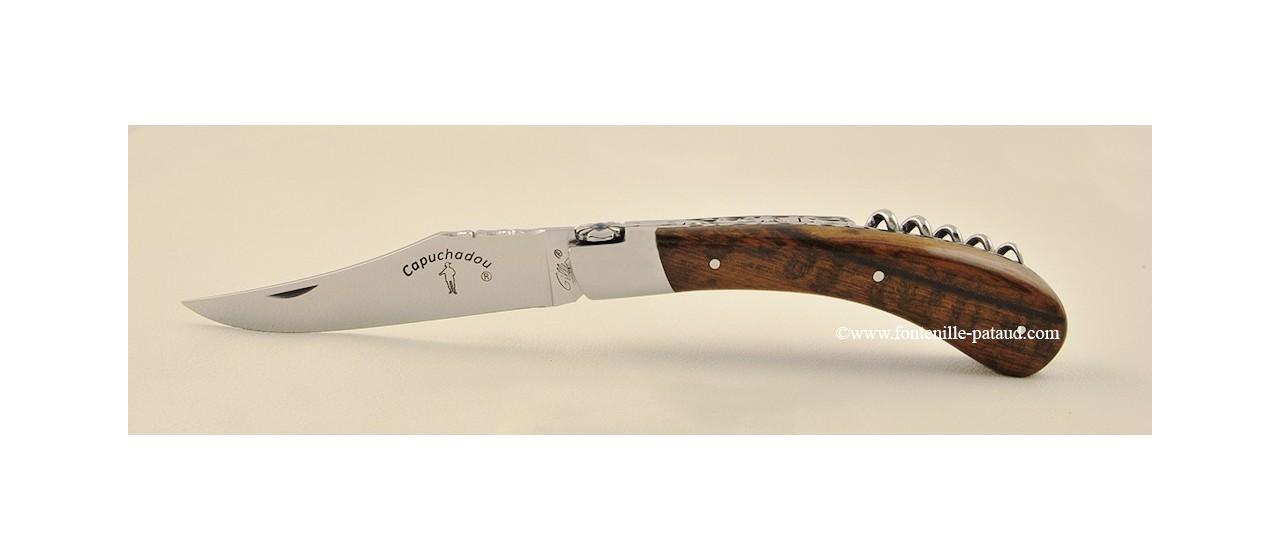 """""""Le Capuchadou Guilloché"""" 12 cm Corkscrew, Amourette wood"""