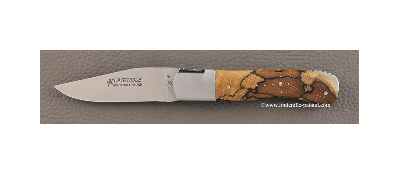 Couteau Laguiole Gentleman Classique en bois de hêtre stabilisé