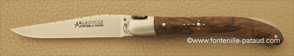 Laguiole Knife Le Pocket Guilloche Range Walnut