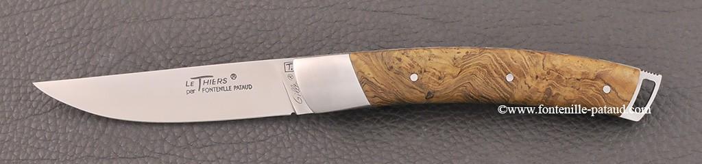 Couteau Le Thiers® Nature avec manche en bois de teck