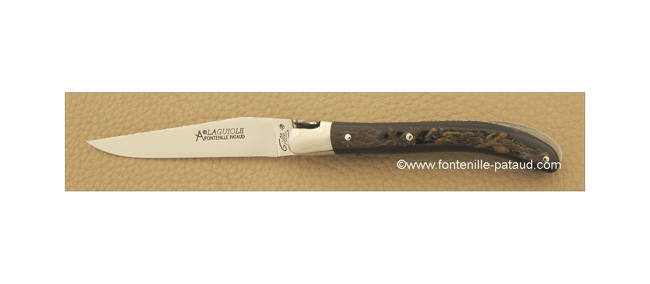 Laguiole Knife Le Pocket Guilloche Range Buffalo bark