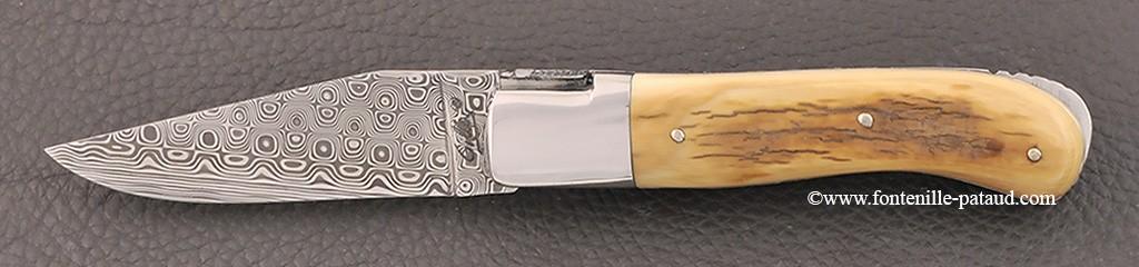 Laguiole Knife Gentleman Damascus Range Mammoth Ivory