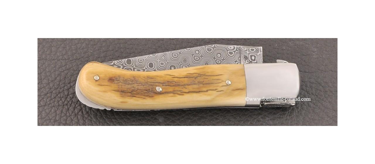 Couteau Laguiole Gentleman Damas mammouth