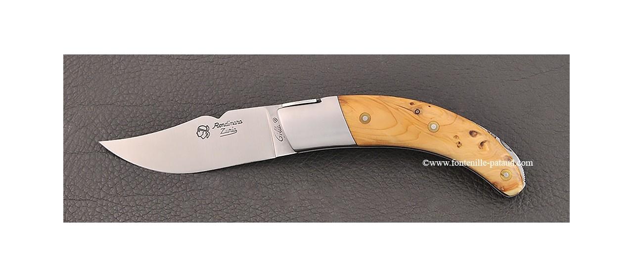 Corsican Rondinara knife classic range yew burl