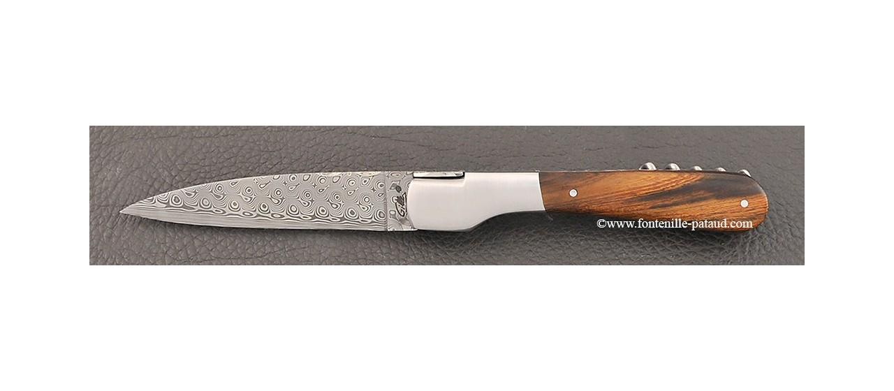 Couteau Vendetta Corse Damas avec tire-bouchon Bois de fer