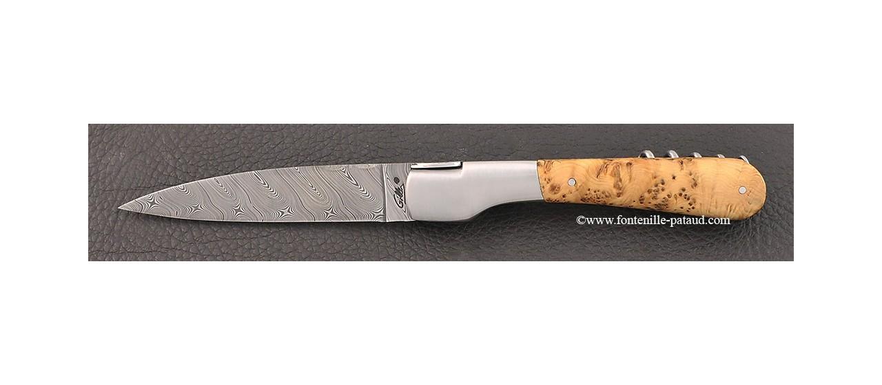 Couteau Vendetta Corse Damas avec tire-bouchon Loupe de genévrier
