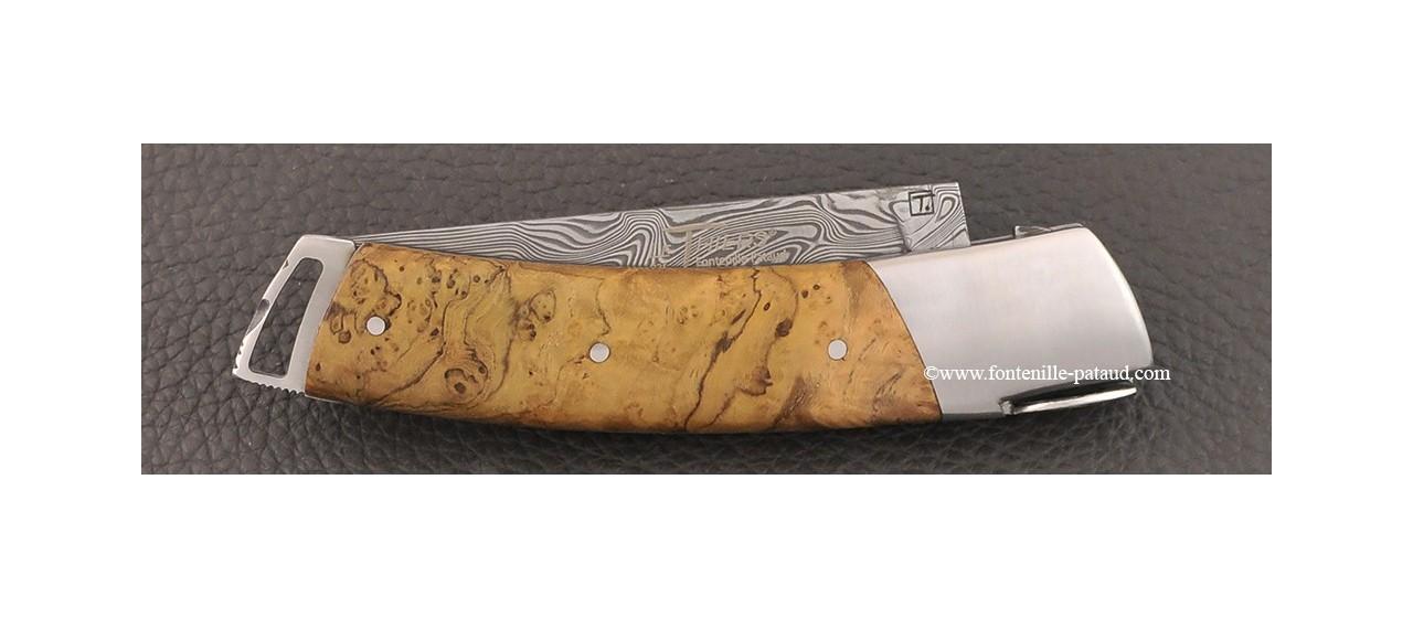 Le Thiers ® Gentleman knife Damascus teak burl