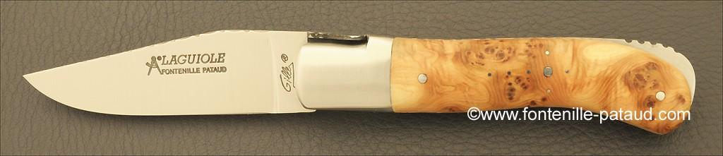 Laguiole Knife Gentleman Guilloche Range Juniper Burl
