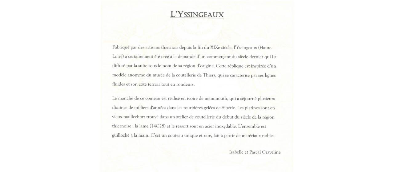 Yssingeaux fossilized mammoth, Atelier Graveline