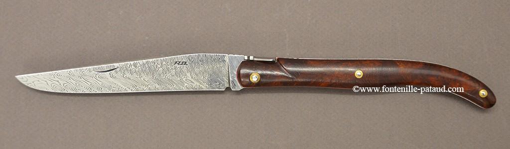 Laguiole 13 cm Damas Bois de fer, Robert Beillonnet