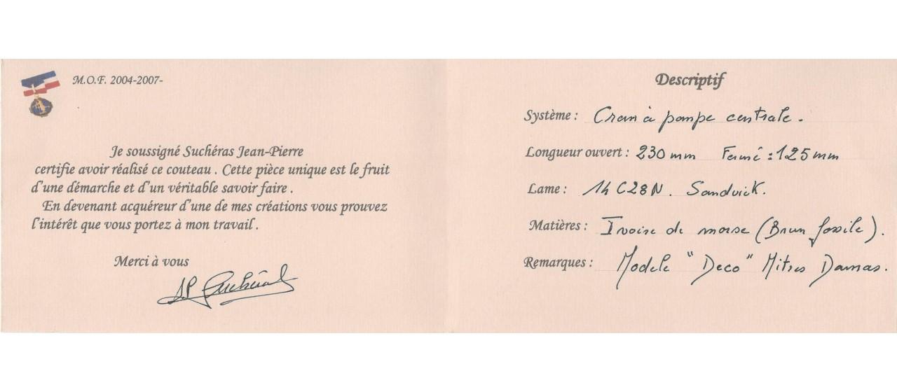 Déco 12,5 cm Walrus ivory,  Jean-Pierre Suchéras