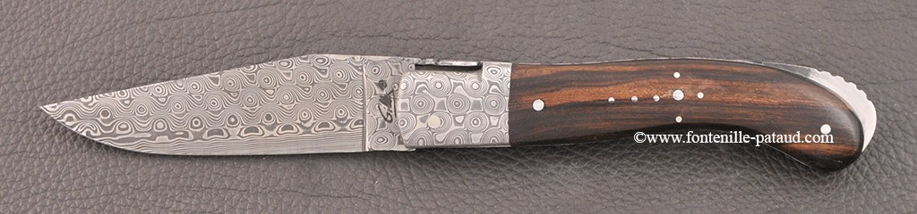 Laguiole Knife Sport Damascus Range Ironwood