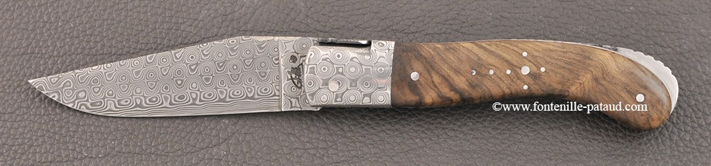 Laguiole Knife Sport Damascus Range Walnut