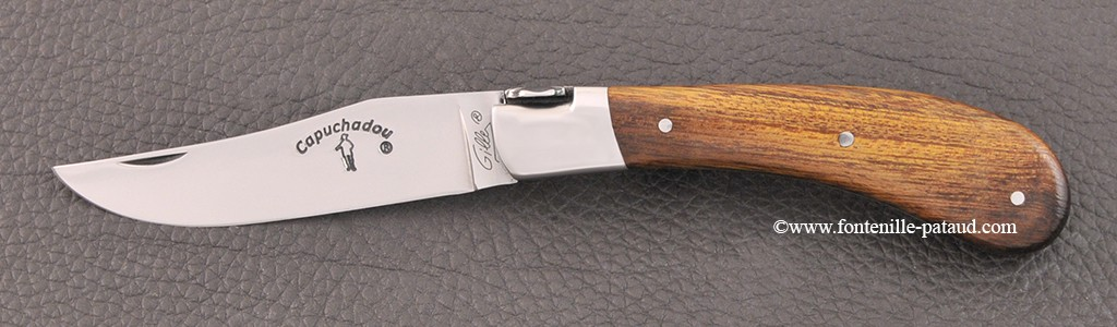 """Le Capuchadou"" 10 cm hand made knife, ironwood"