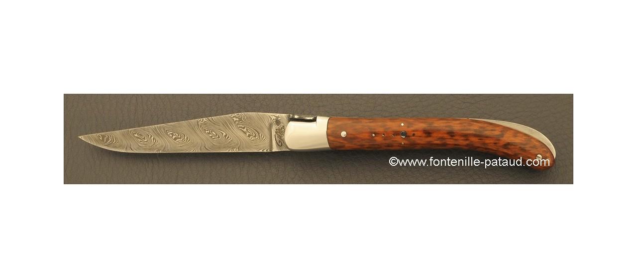Laguiole Knife Le Pocket Damascus Range Amourette
