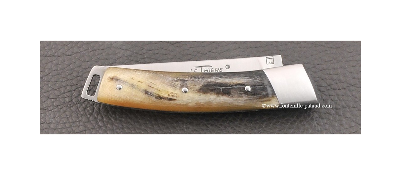Le Thiers® Nature knife dark ram horn handle