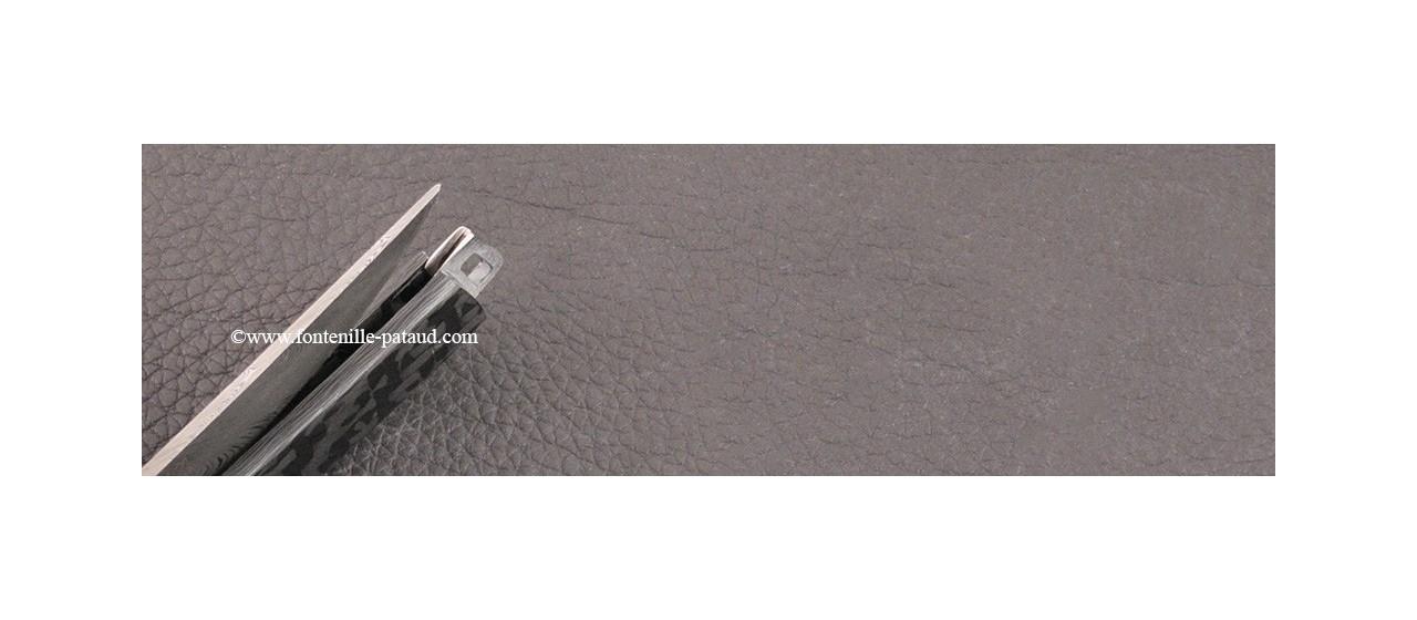Le Thiers® Nature knife Damascus carbon fiber
