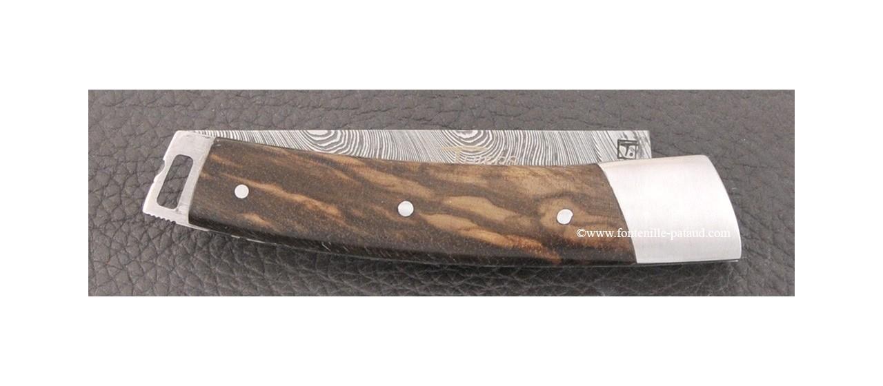 Le Thiers® Nature knife Damascus dark walnut handle