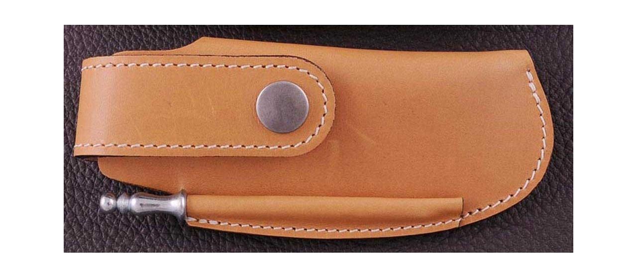 Laguiole Sport knife guilloché olivewood handle