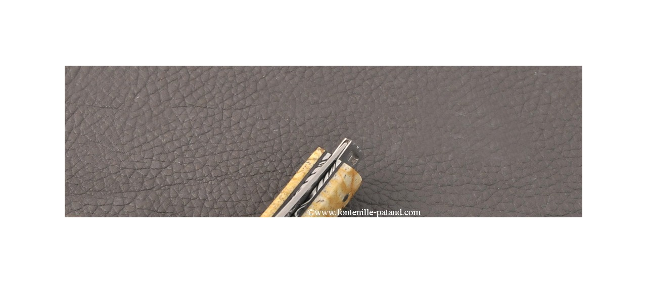 Le Thiers® Nature knife Damascus tiger coral