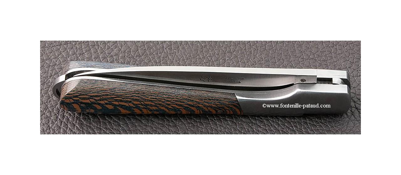 Corsican Sperone knife Classic Range Stabilized blue plane tree