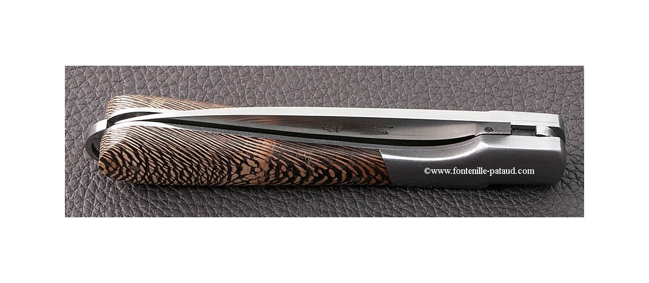 Corsican Sperone knife Classic Range Stabilized black plane tree