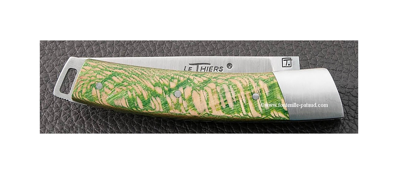 Le Thiers® Nature knife stabilized green plane tree