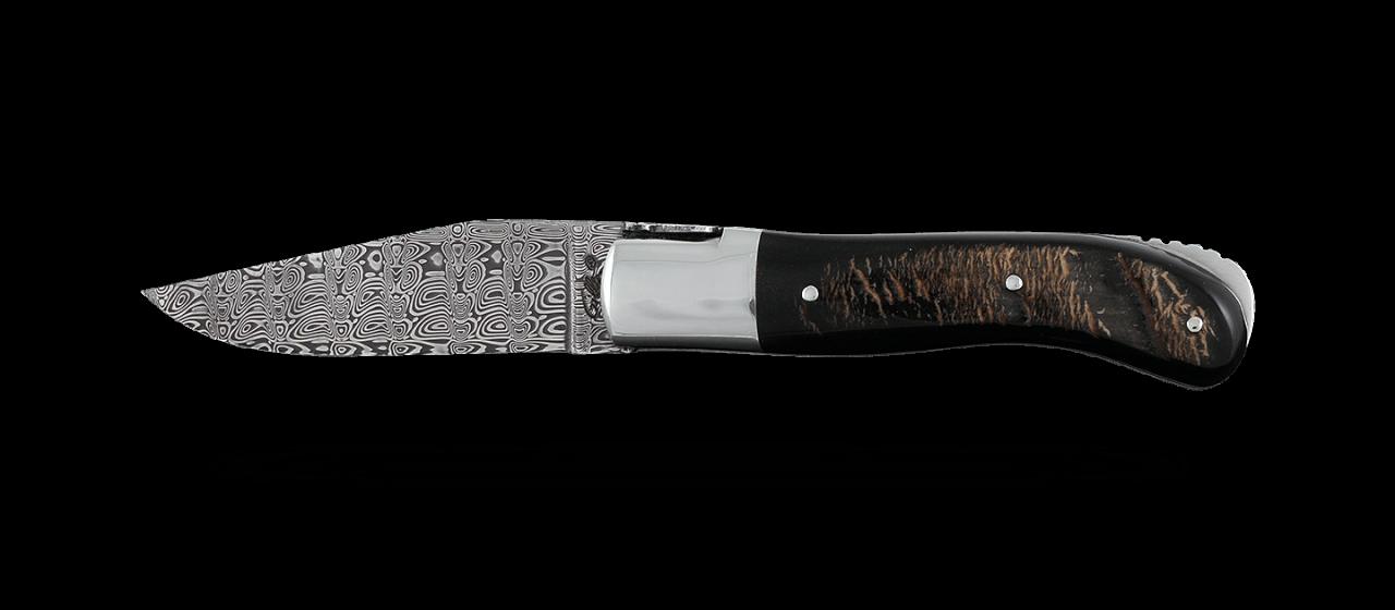 Laguiole Gentleman Damascus Range Buffalo bark