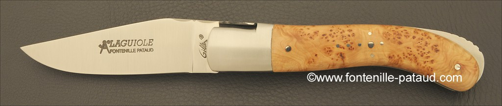 Laguiole Sport knife Juniper burl