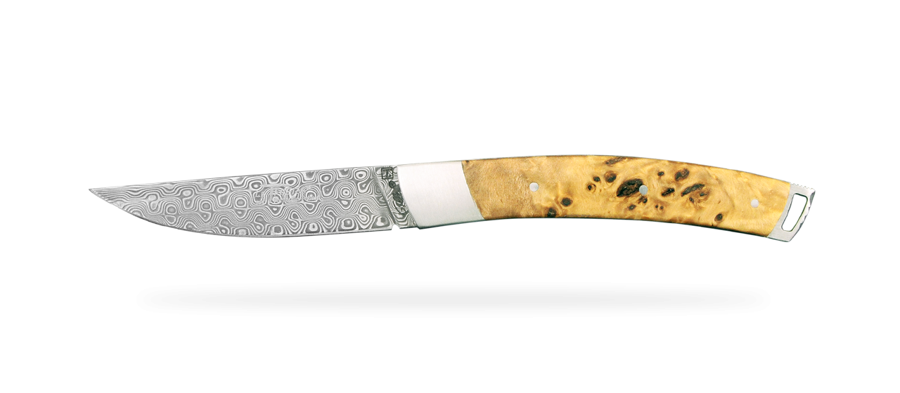 Le Thiers® Nature Damascus Stabilized poplar burl
