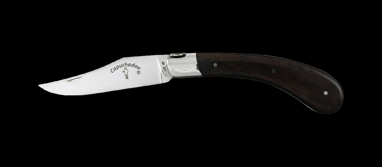 """Le Capuchadou®"" 12 cm hand made knife, Ironwood"