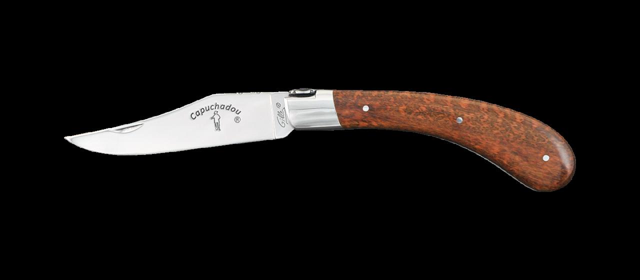 """""""Le Capuchadou®-Guilloché"""" 12 cm hand made knife, Amourette"""