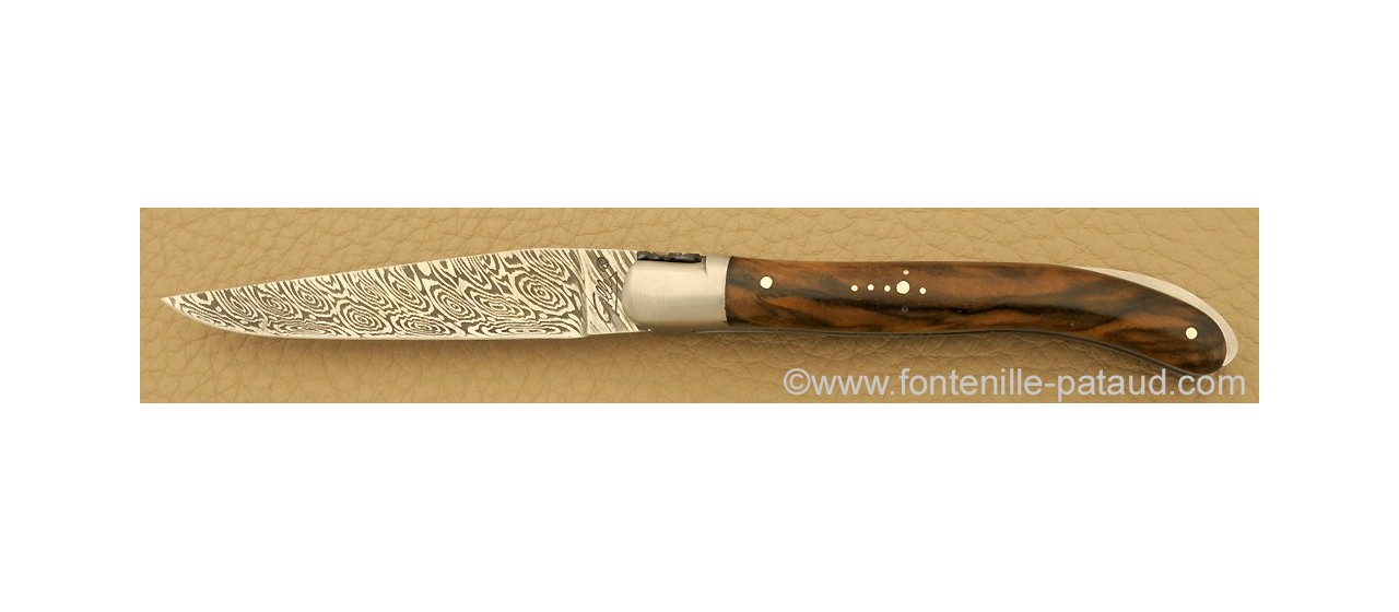 Laguiole Knife XS Damascus Range Walnut