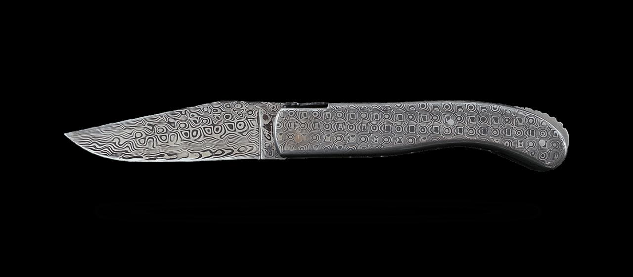 Laguiole Sport Full Damascus Steel Delicate file work
