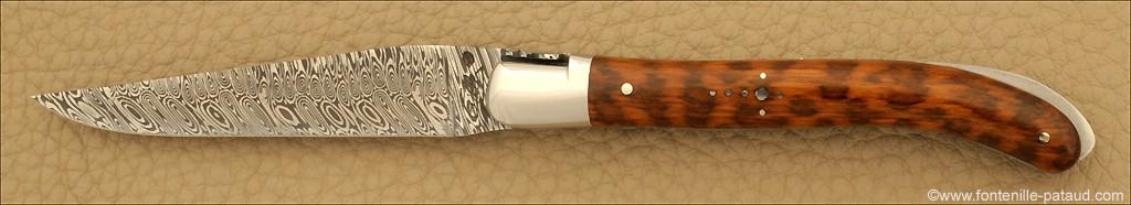 Laguiole Knife XS Damascus Range Amourette
