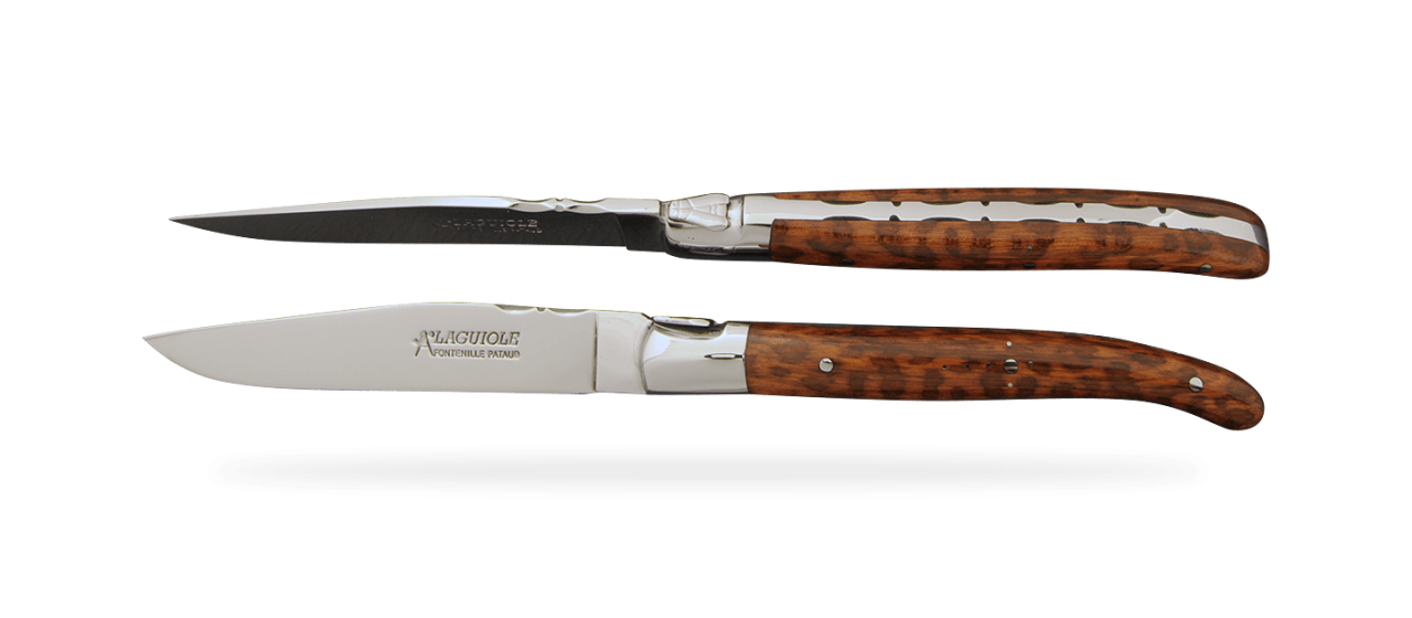 Set of 2 Laguiole Forged Steak Knives Amourette