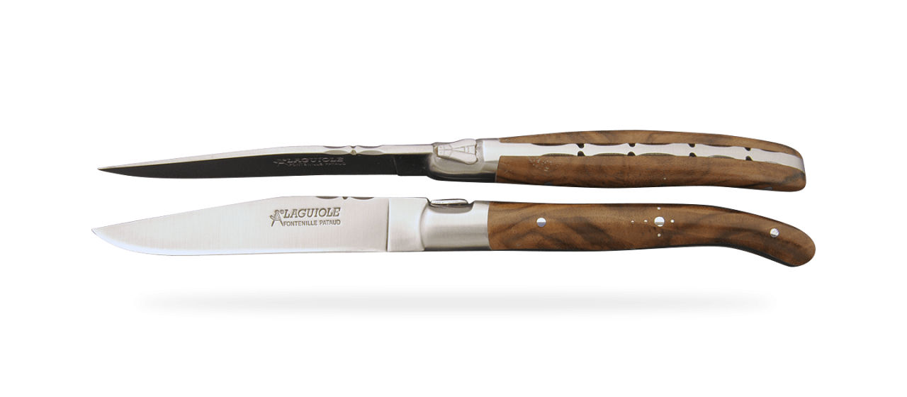 Set of 2 Laguiole Forged Steak Knives Walnut