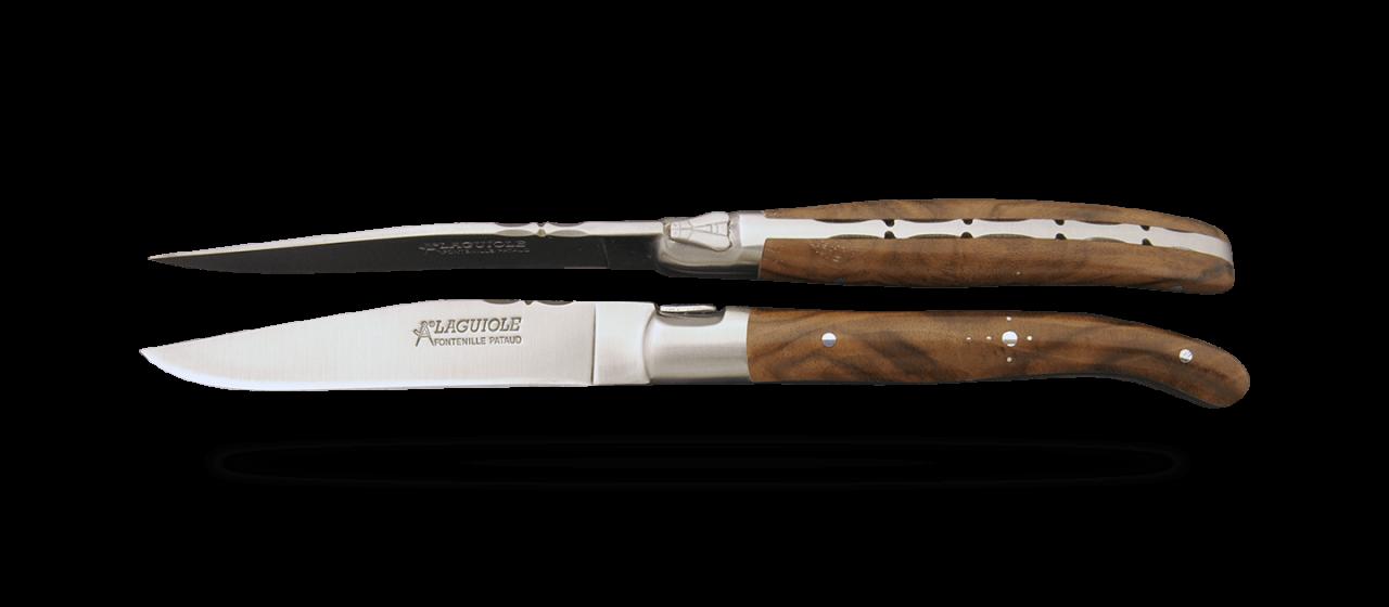 Set of 6 Laguiole Forged Steak Knives Walnut