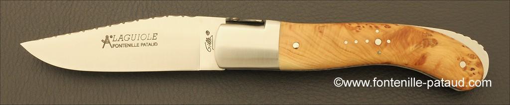 Laguiole Sport knife guilloché juniper