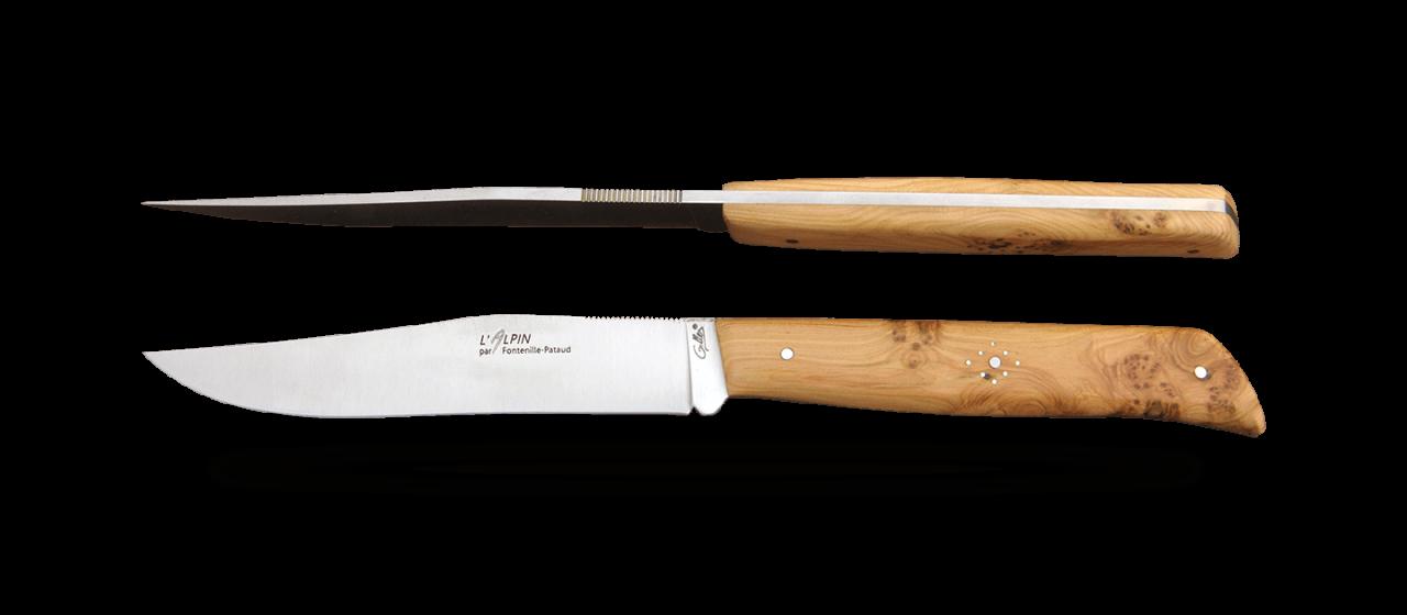 Set of 2 Alpin knives Juniper burl