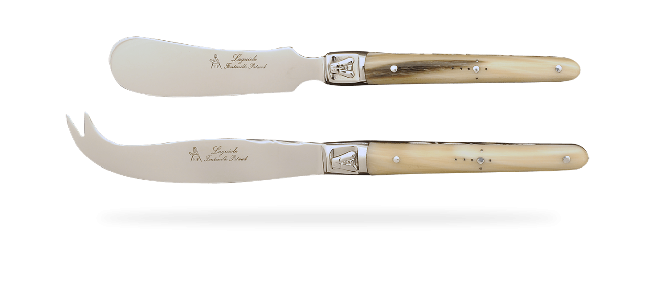 Laguiole Cheese & Butter Set Real horn tip