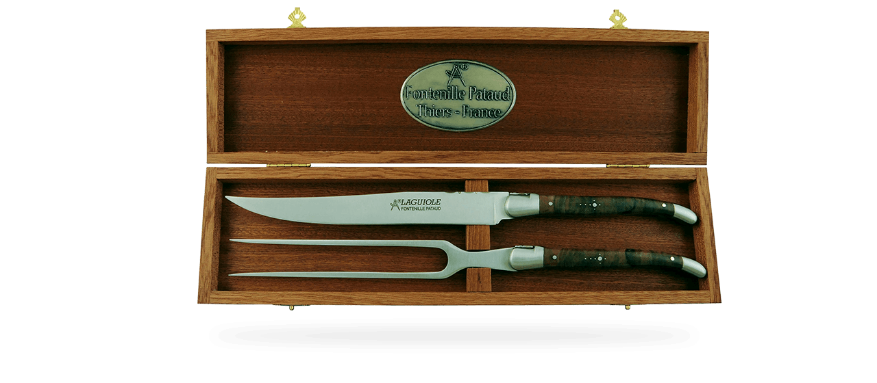 Laguiole Carving Set Walnut