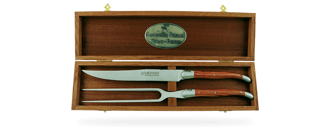 Laguiole Carving Set Rosewood