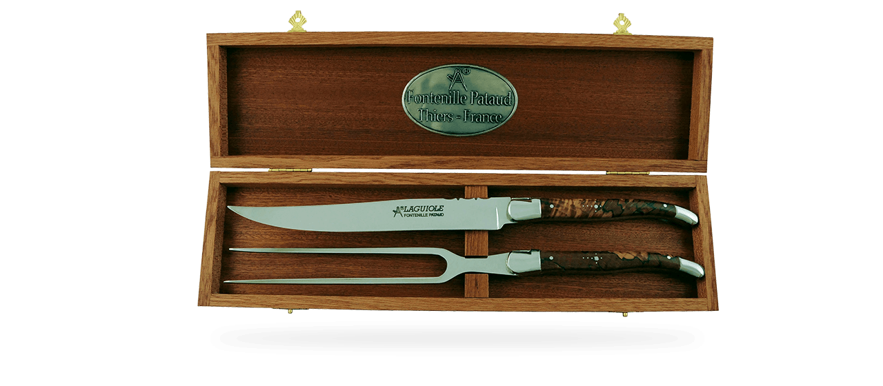 Laguiole Carving Set Stabilized beech
