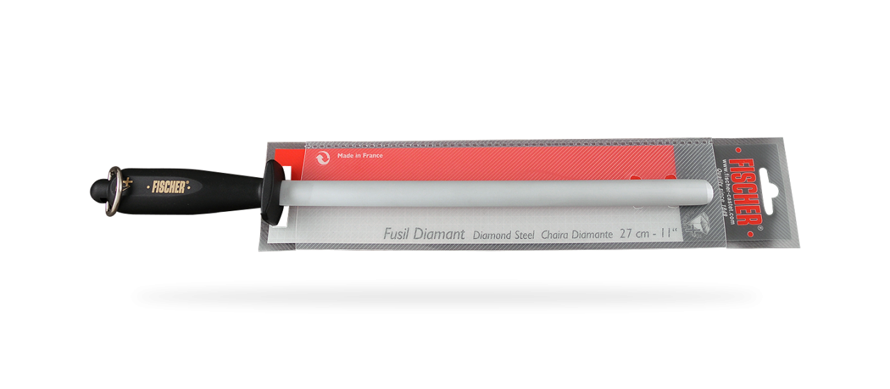 Diamond + oval sharpening steel