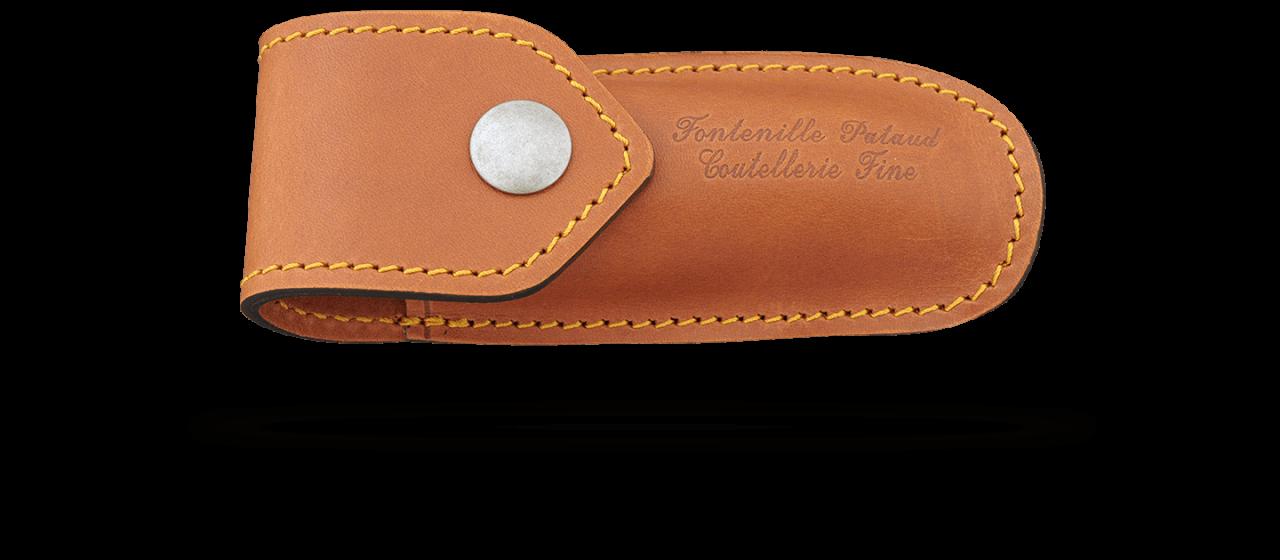 Etui de ceinture en cuir pour Laguiole Gentleman, Pialincu, Capuchadou 10 cm et Le Thiers Pocket