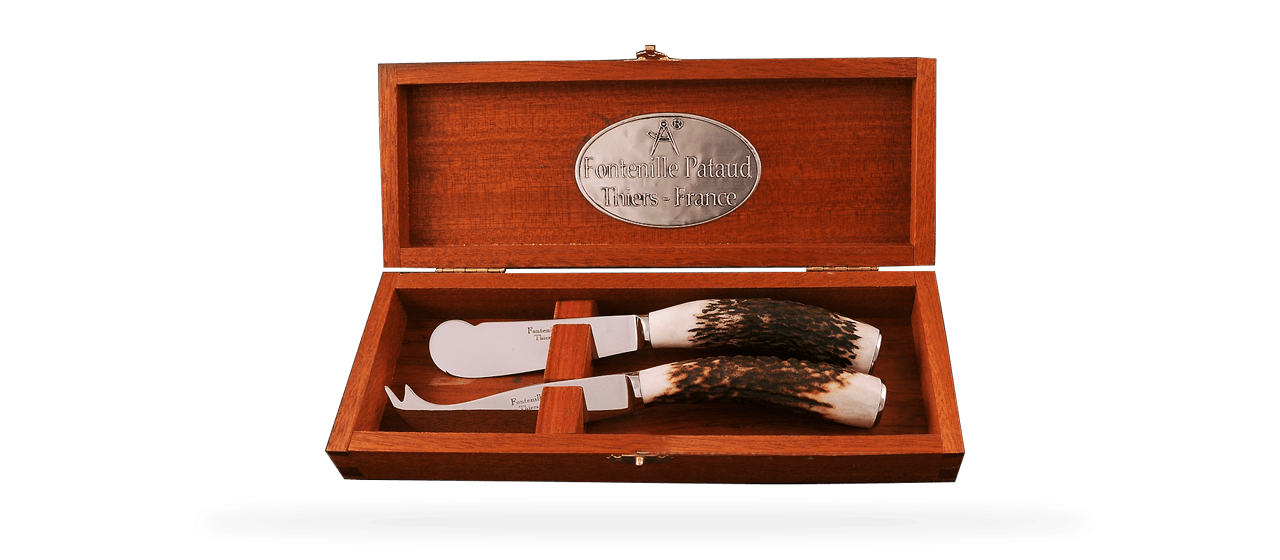 Cheese & Butter Set Real Stag