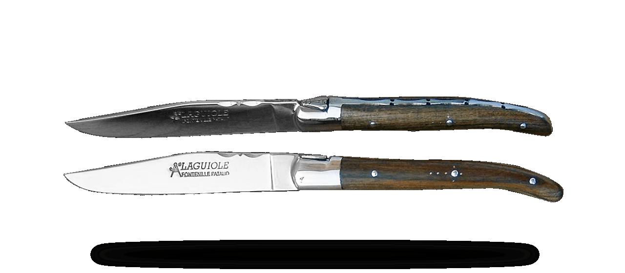 Set of 6 Laguiole Forged Steak Knives Pistachio wood