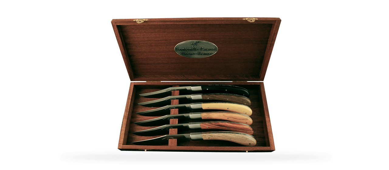 Set of 6 Le Capuchadou ® knives Mixed wood